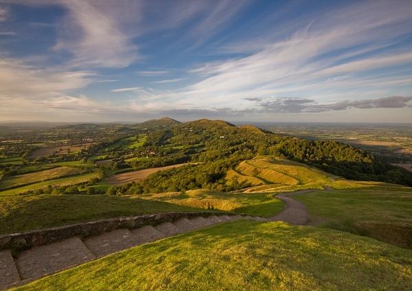 Sunset from British Camp - The Malvern Hills by DouglasLatham