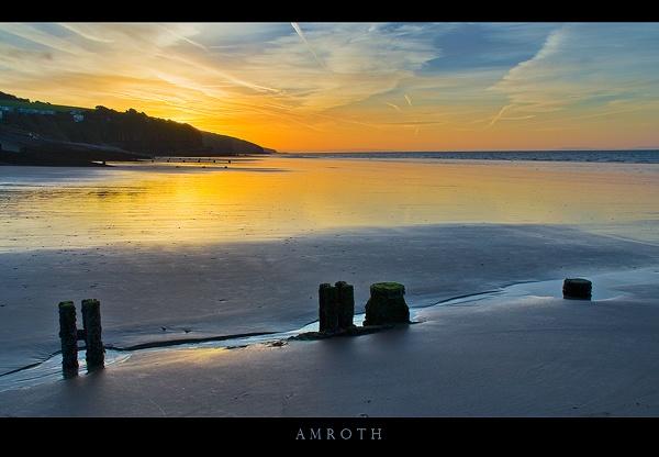 Amroth Sunrise II by Platchet