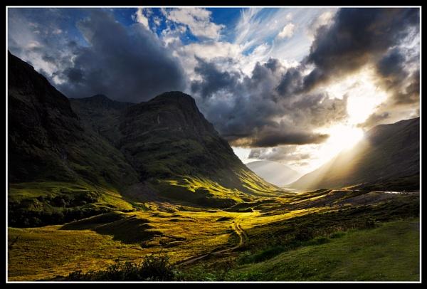 Glencoe Evening light by Fisher2
