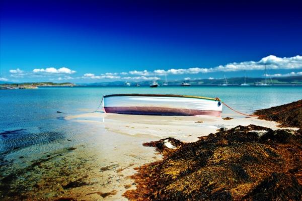 White Boat, Gigha Island by lagil57