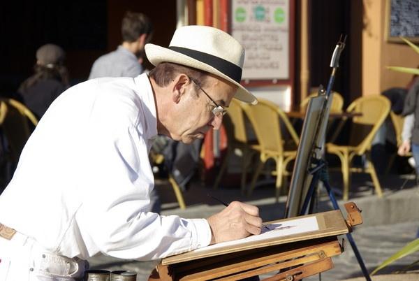 Portrait of the artist by Hardwicke