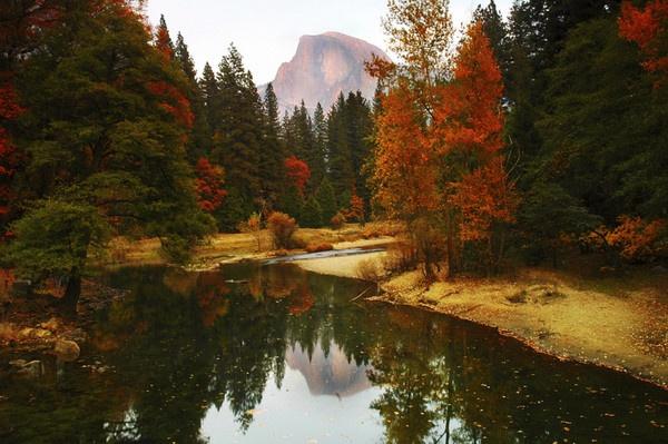 Yosemite - Half Dome Fall Color by john_w168