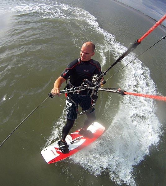 Kitesurfing Self Portrait by jon1169
