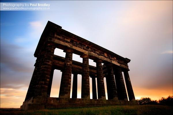 Penshaw - dusk storms by ScudMonkey