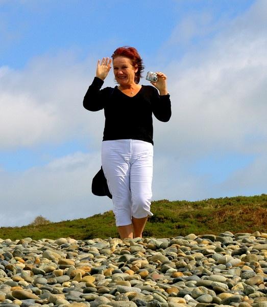 windy day on the beach by samjackster