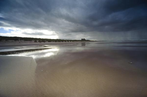 Storm over Bamburgh by SteveSav