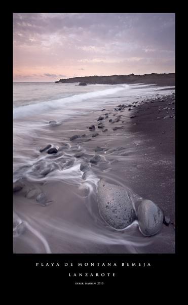 Sunset and Stones, Lanzarote by derekhansen
