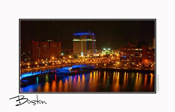 Boston at Night by janehewitt