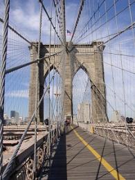 Brooklyn bridge on halloween morning