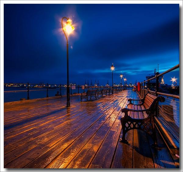 Rain Soaked Pier by pdsdigital