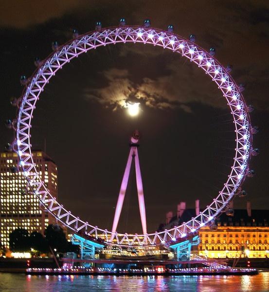 LONDON EYE MOONLIGHT by LAMSPICS