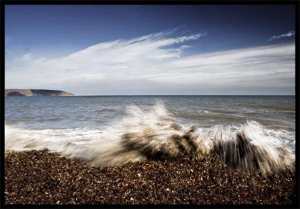 Filey - Beach Splash by dynexclick