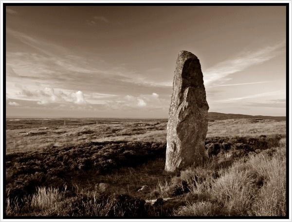 Beinn a Charra standing stone by jdgrimsay