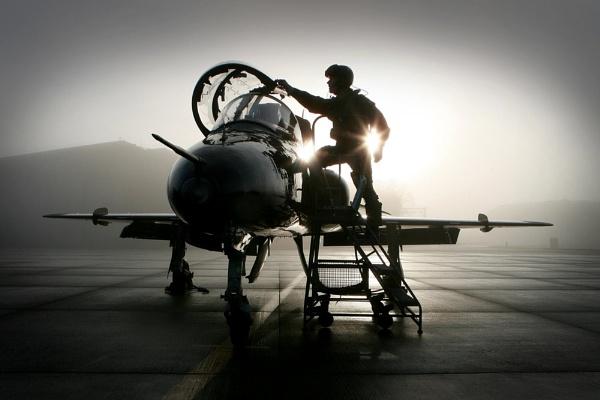 A Hawk and Pilot at RAF Leeming by Doug_Jackson