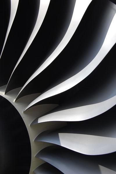 Rolls Royce jet engine turbine blades by Pamella
