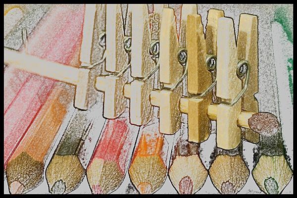 Pegs, Matches & Pencils by JackAllTog