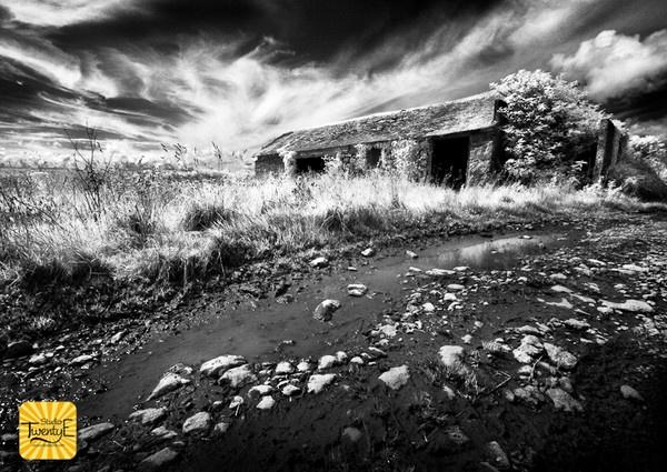 Infrared Barn Lamorna Cove by simongreen