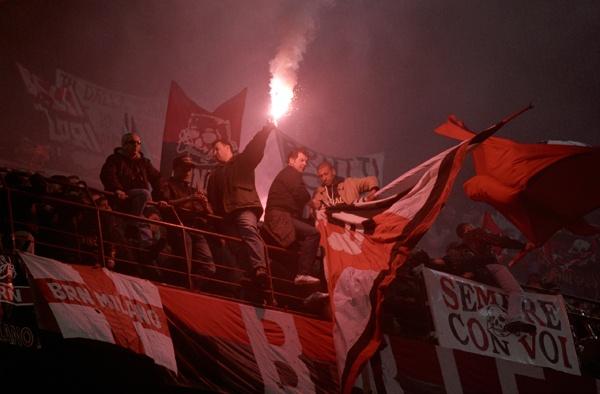 Milan fans at the San Siro by Tim_Reder