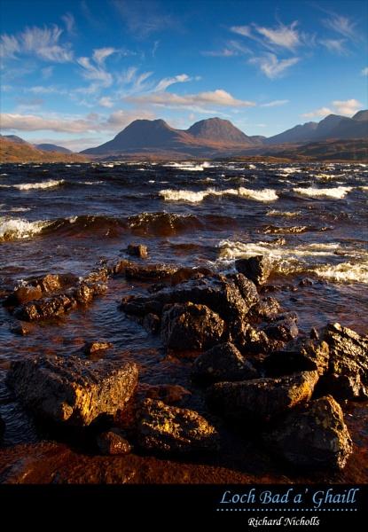 Stormy Loch Bad aÂ' Ghaill by Skinz
