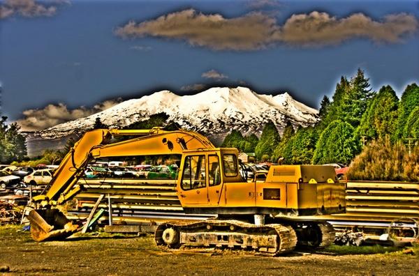 Mountain & machinery by nostramo