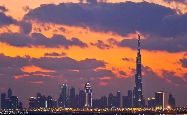 Dubai at night by peggyb
