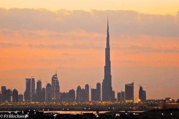 Sunset in Dubai by peggyb