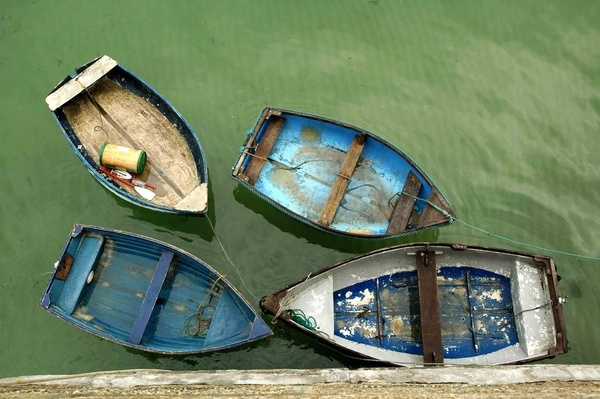Four boats from St Ives by ShaunHamblin
