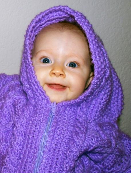 Emma in her lavender sweater by DavidInBulgaria