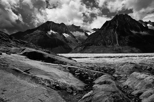 Aletsch glacier, Valais, Switzerland (mono)