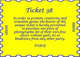 Ticket 38 - The Photographers Dream
