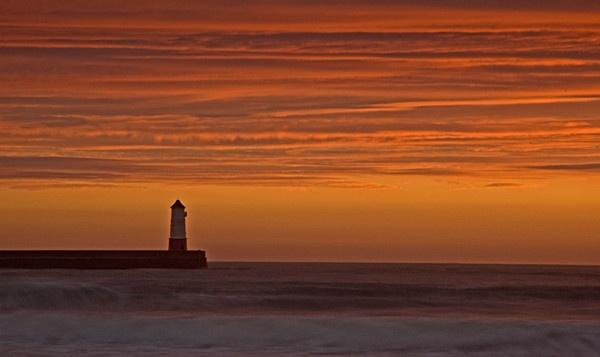 Lighthouse Sunrise by MelanieB