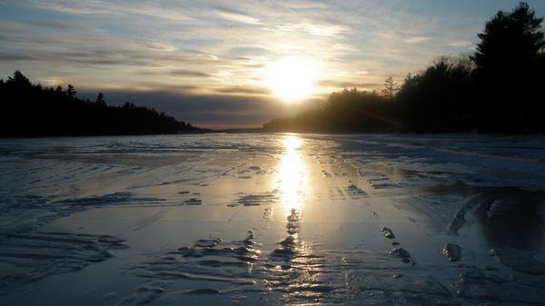 Tracks on the ice by Jovana63