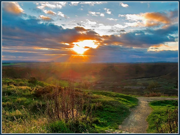 Horcum Sunset by Sylviwhalley