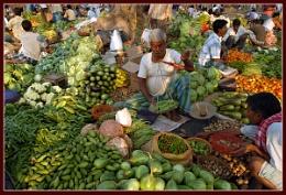 Village vegetable market...I