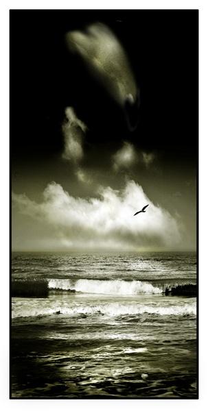 Rhos on Sea Beach by mookey