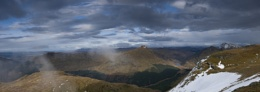 Panorama from summit of Ben Dornich