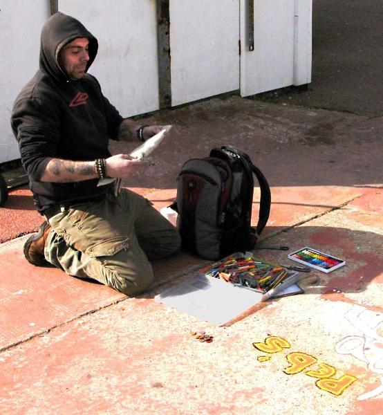 Pavement Artist by derekv