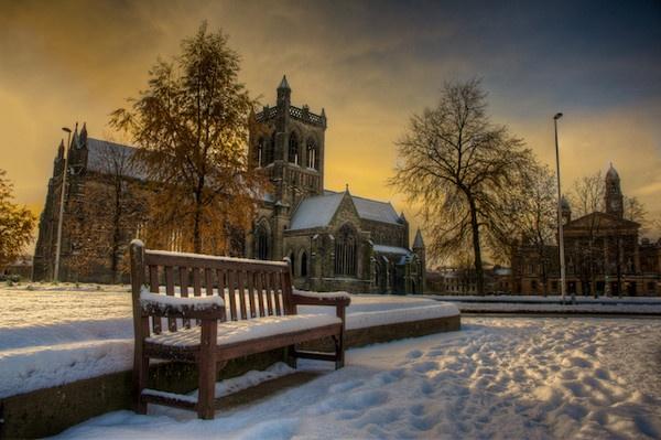 Abbey in winter by Carrera_c