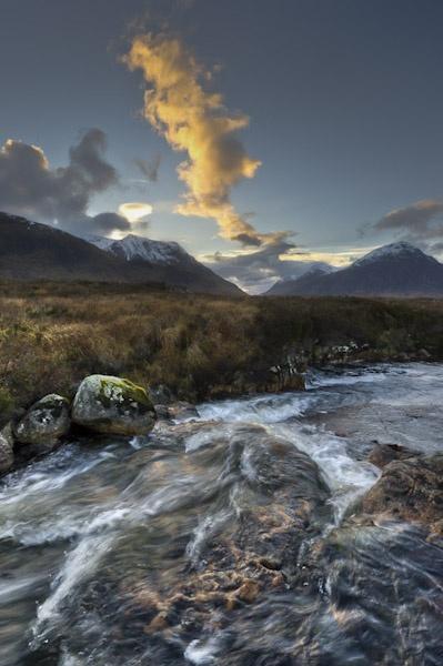 Rapids, Glen Etive, dusk by garyeason