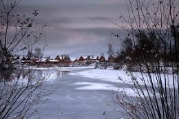 3 Lakes snow scene