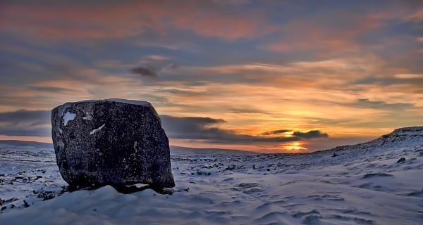 Erratic boulder on Keld Head Scar - Kingsdale by eviemay