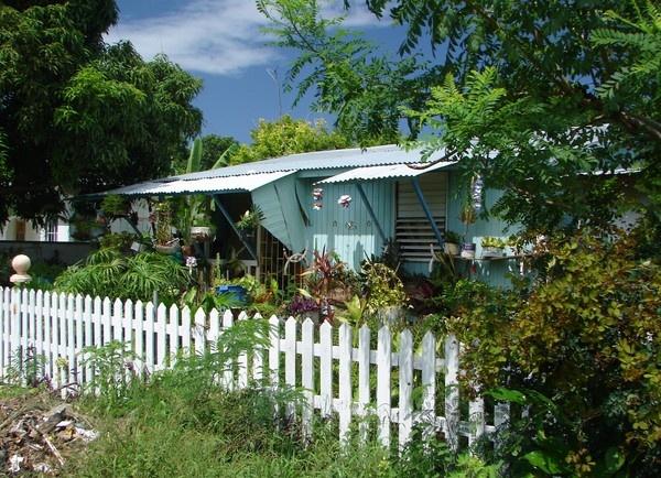 Blue house Jamaica by rayjac