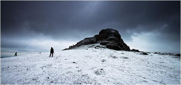Haytor Rocks in the Snow by DavidHixon