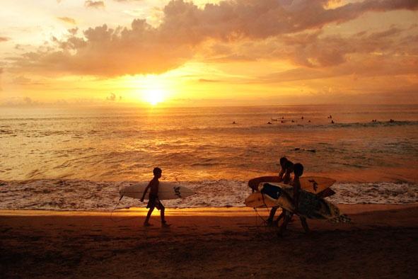 New Age Surfers at Kuta Beach Bali by GregnTreesPhotography