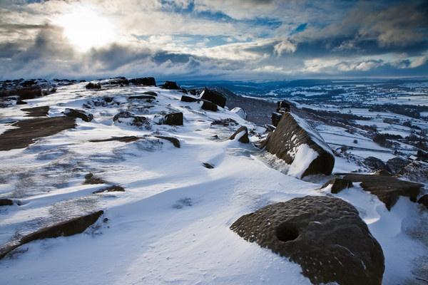 Curbar Snow Derbyshire by RoyChilds
