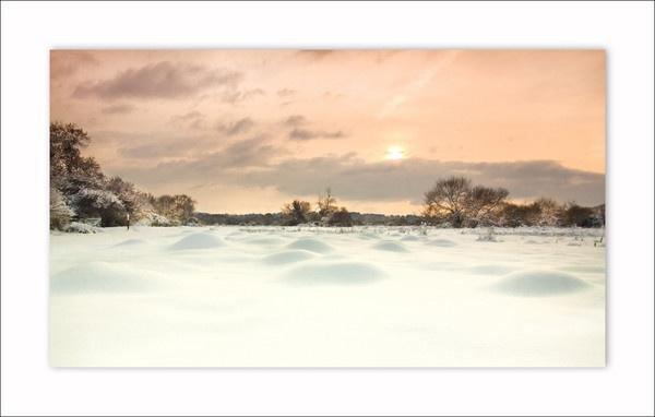 Itchen Valley winter scene by Sloman