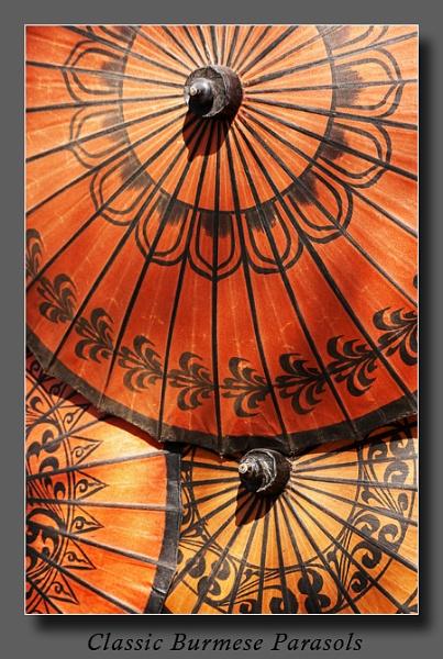 Burmese Parasols by Ezo