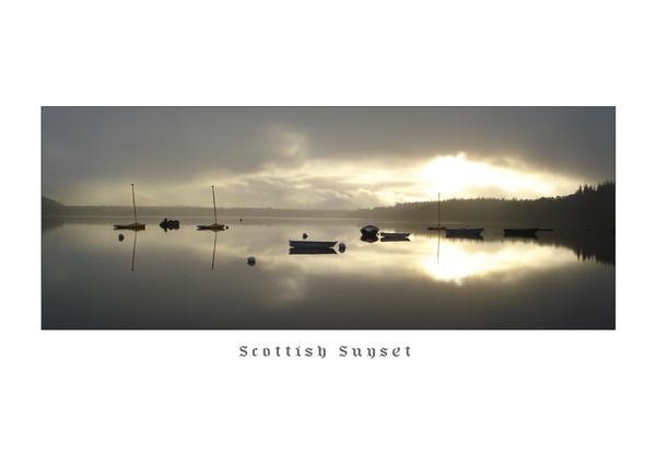 scottish sunset by sapphy