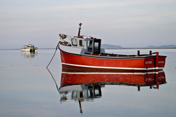 Red boat by phototime