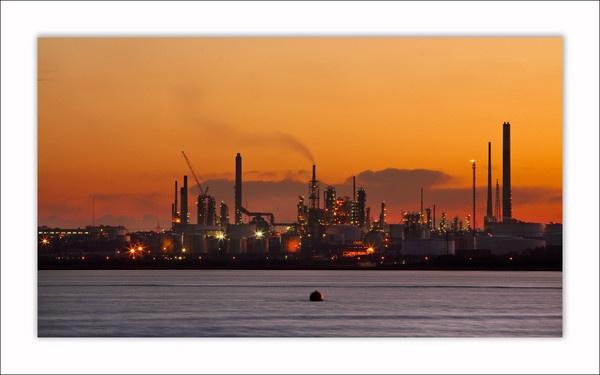 Fawley sunset by Sloman